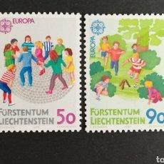 Sellos: LIECHTENSTEIN, EUROPA CEPT 1989 MNH, JUEGOS INFANTILES (FOTOGRAFÍA REAL). Lote 204062056