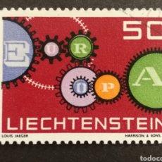 Sellos: LIECHTENSTEIN, EUROPA CEPT 1961 COMPLETA Y USADA (FOTOGRAFÍA REAL). Lote 205561118