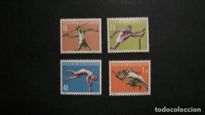 /26.05/-LIECHTENSTEIN-1956-Y&T 304/7 SERIE COMPLETA EN NUEVO CON CHARNELA(**MLH) (Sellos - Extranjero - Europa - Liechtenstein)