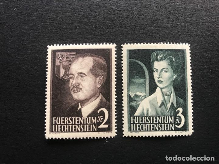LIECHTENSTEIN 1955 MICHEL 332/3** MNH (Sellos - Extranjero - Europa - Liechtenstein)
