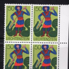 Sellos: LIECHTENSTEIN 1968 BLOQUE MNH MICHEL 489. Lote 210006808