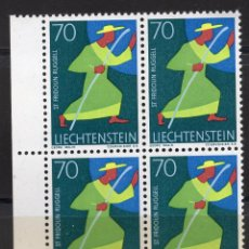 Sellos: LIECHTENSTEIN 1968 BLOQUE MNH MICHEL 491. Lote 210006916