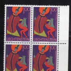 Sellos: LIECHTENSTEIN 1968 BLOQUE MNH MICHEL 493. Lote 210007031