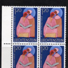 Sellos: LIECHTENSTEIN 1968 BLOQUE MNH MICHEL 494. Lote 210007125