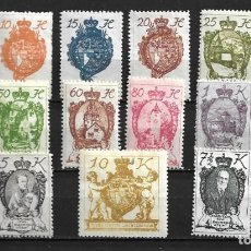 Sellos: LIECHTENSTEIN,1920,SERIE GENERAL,NUEVOS CON CHARNELA,MH,COMPLETA,YVERT 25-39. Lote 210094195
