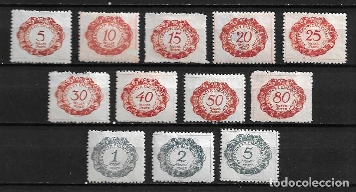 LIECHTENSTEIN,1920,SELLOS FISCALES,NUEVOS CON CHARNELA,MH,COMPLETA,YVERT 1-12 (Sellos - Extranjero - Europa - Liechtenstein)