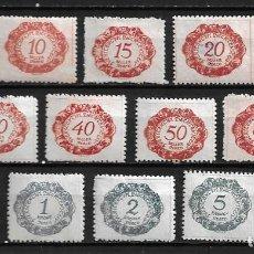 Sellos: LIECHTENSTEIN,1920,SELLOS FISCALES,NUEVOS CON CHARNELA,MH,COMPLETA,YVERT 1-12. Lote 210095861