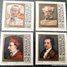 Sellos: LIECHTENSTEIN. 725/28 VISITANTES CÉLEBRES: SAN CARLOS BORROMEO, GOETHE, ALEJANDRO DUMAS HIJO, HERMAN. Lote 211646435