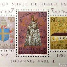 Sellos: LIECHTENSTEIN.HB 15 VISITA DEL PAPA JUAN PABLO II. 1985. SELLOS NUEVOS Y NUMERACIÓN YVERT.. Lote 211646456