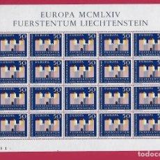 Sellos: LIECHTENSTEIN.EUROPA 1964. 20 SERIES.. Lote 212079142