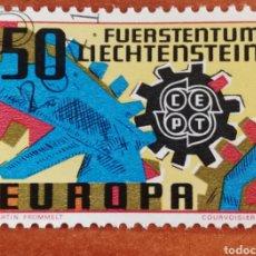 Sellos: LIECHTENSTEIN, EUROPA CEPT 1967 USADA (FOTOGRAFÍA REAL). Lote 212606463