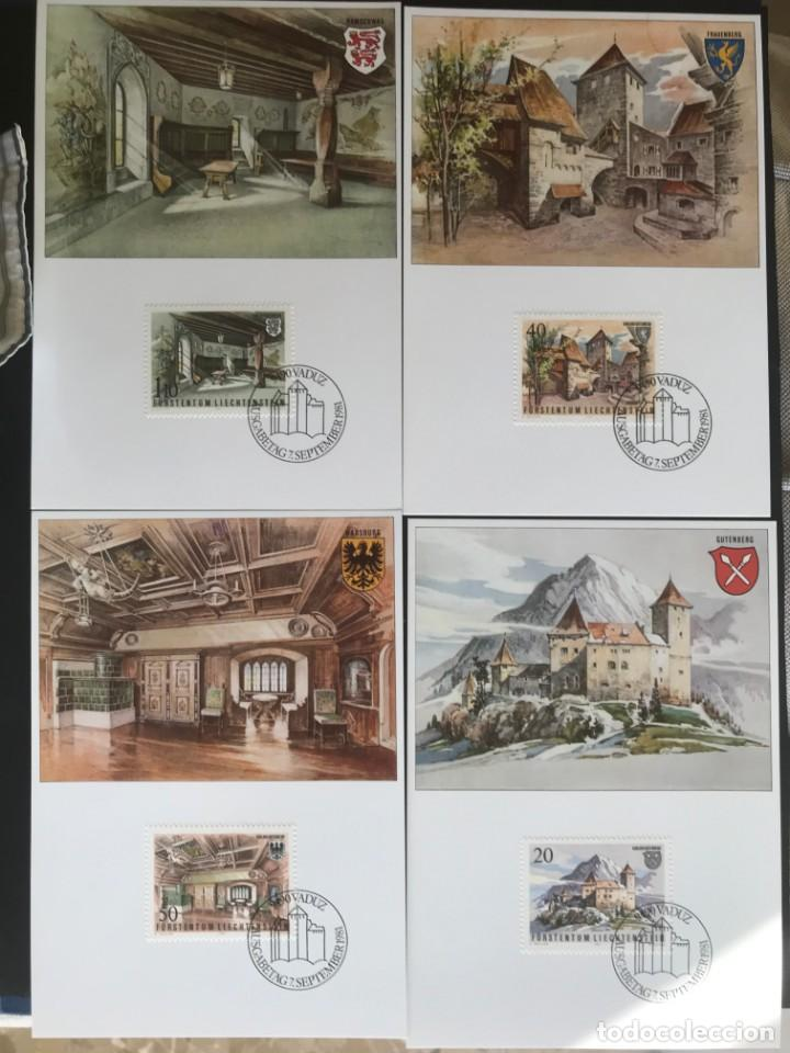 LIECHTENSTEIN 1981 TARJETAS SERIE COMPLETA (Sellos - Extranjero - Europa - Liechtenstein)