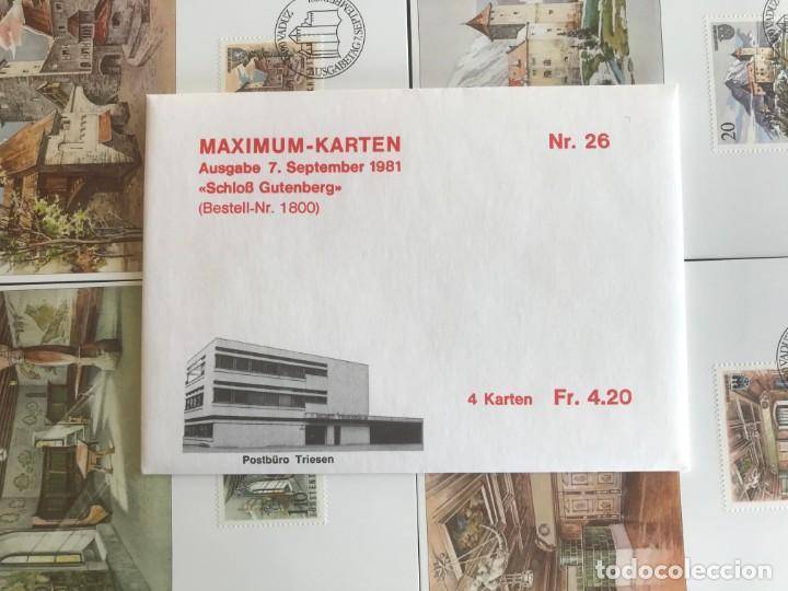 Sellos: Liechtenstein 1981 Tarjetas Serie completa - Foto 2 - 216615805