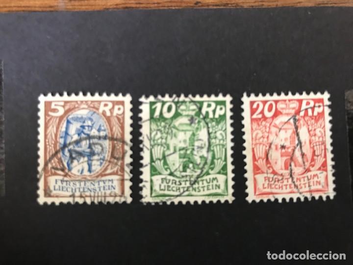 LIECHTENSTEIN 1924 MICHEL 66,68 Y 70 USADOS (Sellos - Extranjero - Europa - Liechtenstein)