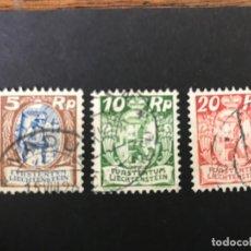 Sellos: LIECHTENSTEIN 1924 MICHEL 66,68 Y 70 USADOS. Lote 216772932