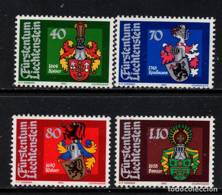 LIECHTENSTEIN 734/37** - AÑO 1982 - ESCUDOS (Sellos - Extranjero - Europa - Liechtenstein)