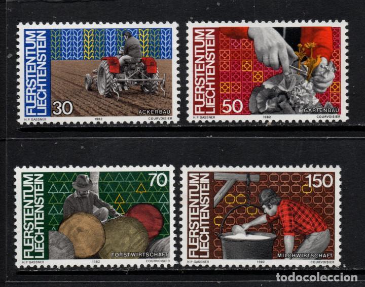 LIECHTENSTEIN 743/46** - AÑO 1982 - PERSONAS Y TRABAJO (Sellos - Extranjero - Europa - Liechtenstein)