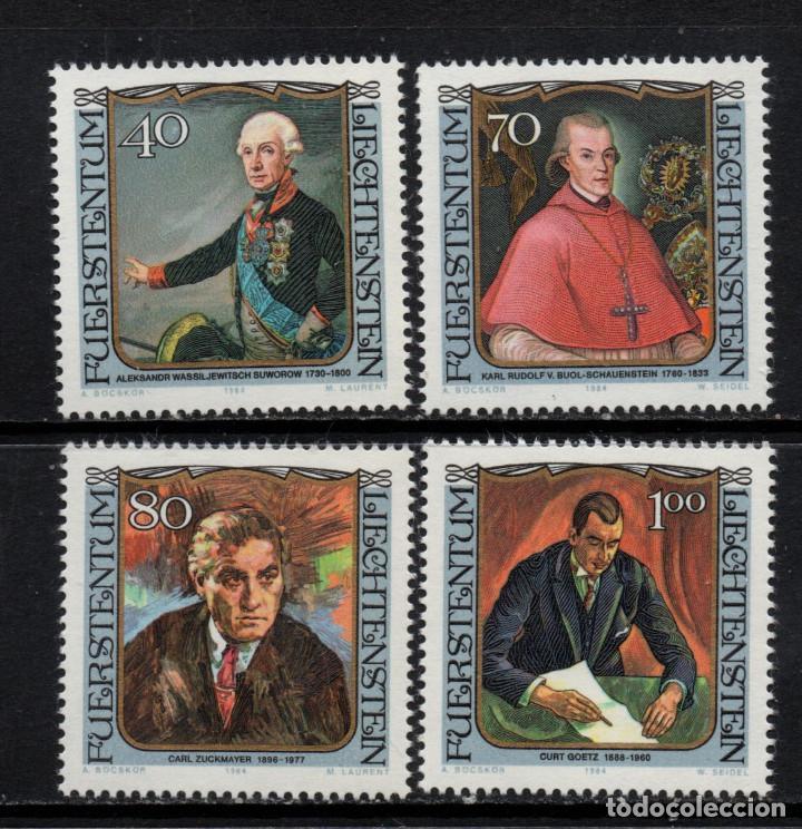 LIECHTENSTEIN 780/83** - AÑO 1984 - VISITANTES CELEBRES (Sellos - Extranjero - Europa - Liechtenstein)