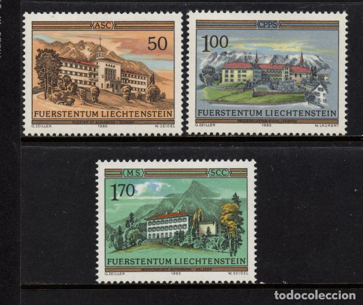LIECHTENSTEIN 809/11** - AÑO 1985 - ARQUITECTURA RELIGIOSA - ORDENES Y CONVENTOS (Sellos - Extranjero - Europa - Liechtenstein)