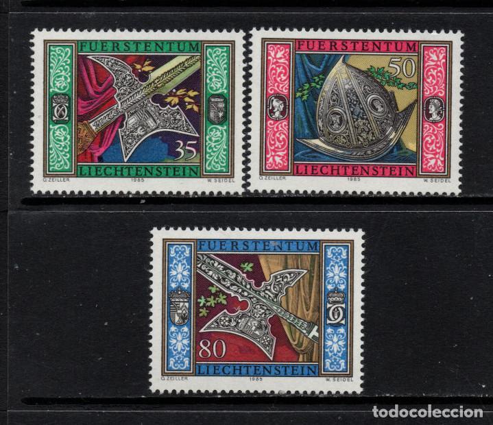 LIECHTENSTEIN 831/33** - AÑO 1985 - ARMAS DE LA GUARDIA DE ARMAS DEL PRINCIPE (Sellos - Extranjero - Europa - Liechtenstein)