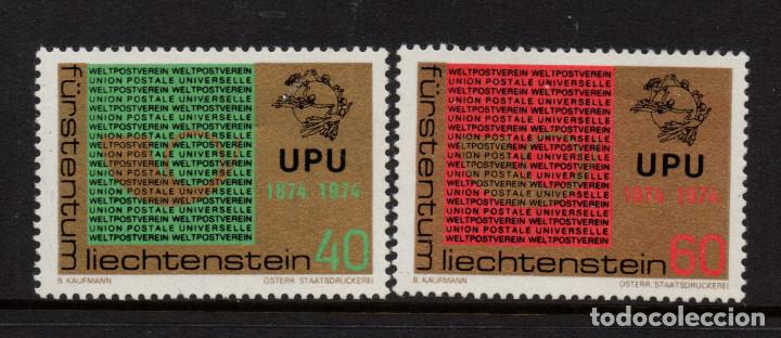 LIECHTENSTEIN 550/51** - AÑO 1974 - CENTENARIO DE LA UNION POSTAL UNIVERSAL (Sellos - Extranjero - Europa - Liechtenstein)