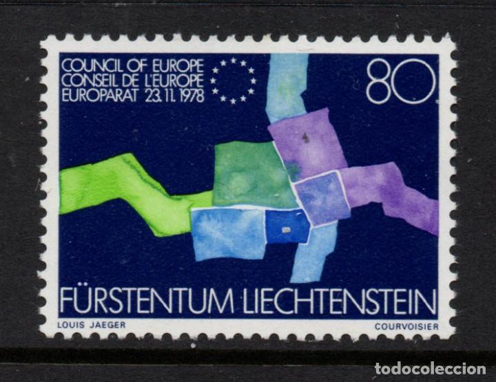 LIECHTENSTEIN 670** - AÑO 1979 - ADHESION DE LIECHTENSTEIN AL CONSEJO DE EUROPA (Sellos - Extranjero - Europa - Liechtenstein)