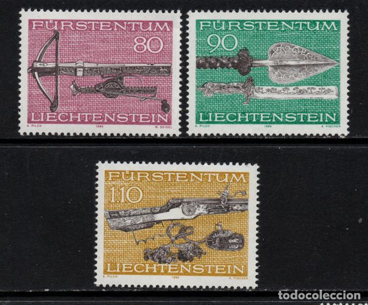 LIECHTENSTEIN 692/94** - AÑO 1980 - ARMAS DE CAZA (Sellos - Extranjero - Europa - Liechtenstein)