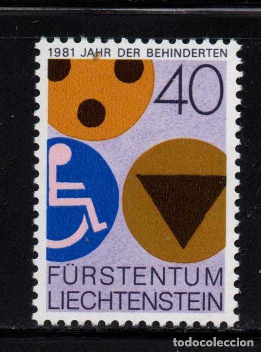 LIECHTENSTEIN 715** - AÑO 1981 - AÑO INTERNACIONAL DEL MINUSVALIDO (Sellos - Extranjero - Europa - Liechtenstein)