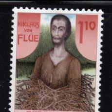 Sellos: LIECHTENSTEIN 861** - AÑO 1987 - 5º CENTENARIO DE LA MUERTE DE NICOLÁS DE FLUE. Lote 218800667