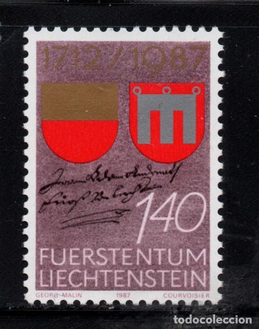 LIECHTENSTEIN 869** - AÑO 1987 - 275º ANIV. DE LA INCORPORACION DEL CONDADO DE VADUZ AL PRINCIPADO (Sellos - Extranjero - Europa - Liechtenstein)