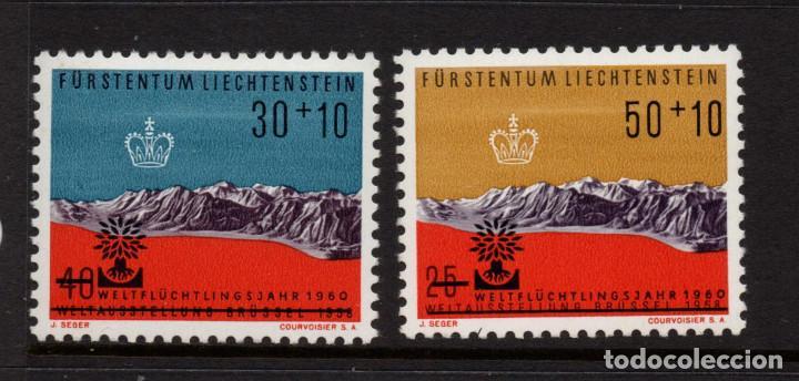 LIECHTENSTEIN 353/54** - AÑO 1960 - AÑO MUNDIAL DEL REFUGIADO (Sellos - Extranjero - Europa - Liechtenstein)