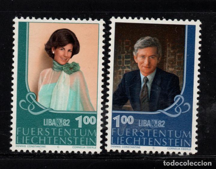 LIECHTENSTEIN 738/39** - AÑO 1982 - LIBA 82, EXPOSICION FILATELICA NACIONAL - PRÍNCIPES HEREDEROS (Sellos - Extranjero - Europa - Liechtenstein)
