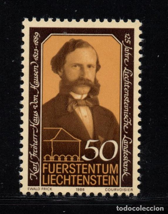 LIECHTENSTEIN 843** - AÑO 1986 - 125º ANIVERSARIO DEL BANCO DEL ESTADO (Sellos - Extranjero - Europa - Liechtenstein)