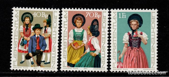 LIECHTENSTEIN 625/27** - AÑO 1977 - FOLKLORE (Sellos - Extranjero - Europa - Liechtenstein)
