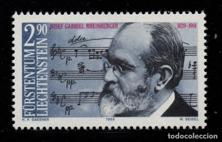 LIECHTENSTEIN 904** - AÑO 1989 - MUSICA - 150º ANIV. DEL NACIMIENTO DEL COMPOSITOR J. G. RHEINBERGER (Sellos - Extranjero - Europa - Liechtenstein)