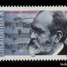 Sellos: LIECHTENSTEIN 904** - AÑO 1989 - MUSICA - 150º ANIV. DEL NACIMIENTO DEL COMPOSITOR J. G. RHEINBERGER. Lote 219514745