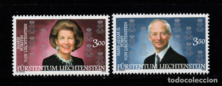 LIECHTENSTEIN 1236/37** - AÑO 2002 - PRÍNCIPES DE LIECHTENSTEIN (Sellos - Extranjero - Europa - Liechtenstein)