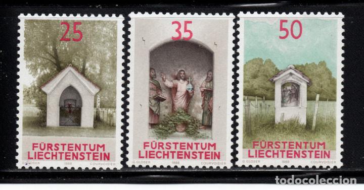 LIECHTENSTEIN 892/94** - AÑO 1988 - CAPILLAS (Sellos - Extranjero - Europa - Liechtenstein)