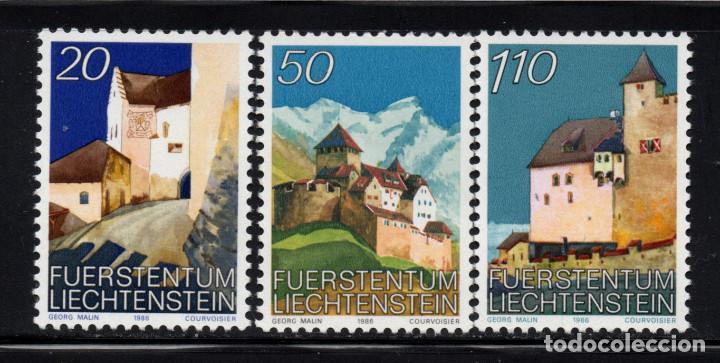 LIECHTENSTEIN 837/39** - AÑO 1986 - CASTILLO DE VADUZ (Sellos - Extranjero - Europa - Liechtenstein)