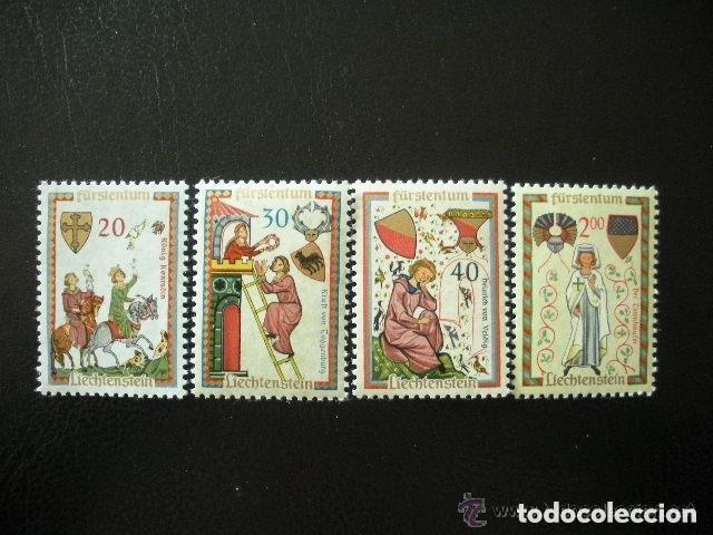 LIECHTENSTEIN 1962 IVERT 373/6 *** TROBADORES (II) (Sellos - Extranjero - Europa - Liechtenstein)