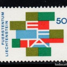 Sellos: LIECHTENSTEIN 432** - AÑO 1967 - ASOCIACION EUROPEA DE LIBRE COMERCIO. Lote 223361037