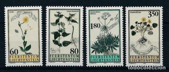 LIECHTENSTEIN 1995 IVERT 1057/60 *** FLORA - PLANTAS MEDICINALES (Sellos - Extranjero - Europa - Liechtenstein)