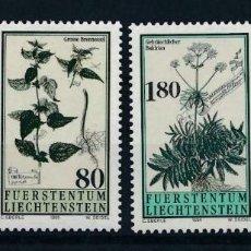 Sellos: LIECHTENSTEIN 1995 IVERT 1057/60 *** FLORA - PLANTAS MEDICINALES. Lote 223940625
