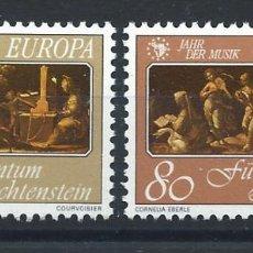 "Sellos: LIECHTENSTEIN N°807/08** (MNH) 1985 - EUROPA ""ANNÉE EUROPÉENNE DE LA MUSIQUE"". Lote 228083535"
