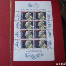 Sellos: +LIECHTENSTEIN, 1983, AÑO SANTO, PAPA JUAN PABLO II, MINIPLIEGO CON 8 VALORES, YVERT 771. Lote 235541115