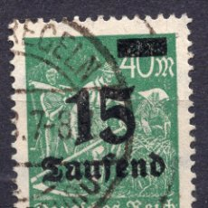 Sellos: -ALEMANIA IMPERIO, 1923 , MICHEL 279A USED. Lote 245240520