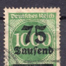 Sellos: -ALEMANIA IMPERIO, 1923 , MICHEL 288 I USED. Lote 245240625