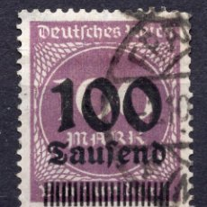 Sellos: -ALEMANIA IMPERIO, 1923 , MICHEL 289A USED. Lote 245266220