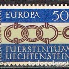 Sellos: LIECHTENSTEIN IVERT Nº 398, EUROPA 1964, NUEVO SIN GOMA. Lote 247403215