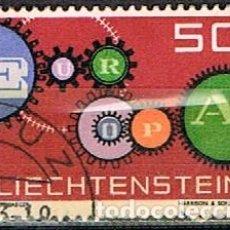 Sellos: LIECHTENSTEIN IVERT Nº 364, EUROPA 1961, USADO. Lote 247404070